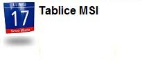 Verso: Tablice MSI